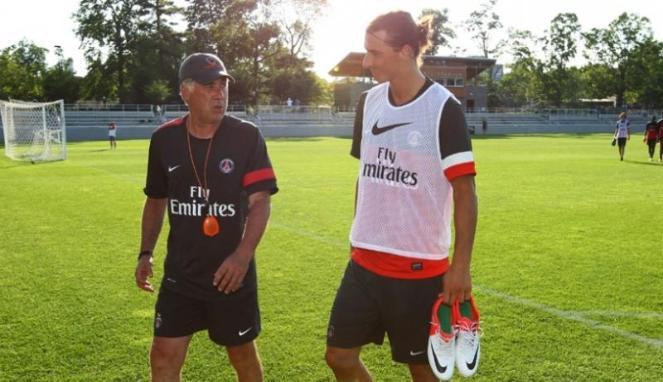 Ketika Ancelotti Menendang Boks ke Ibrahimovic
