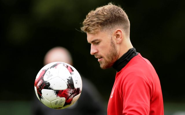 Soccer Football - 2018 World Cup Qualifications - Europe - Wales Training - Vale of Glamorgan, Britain - September 4, 2017   Wales' Aaron Ramsey during training   Action Images via Reuters/Henry Browne
